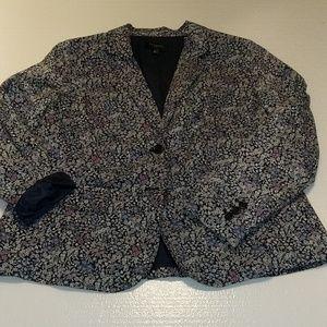 Talbot's mini floral cotton jacket 14W